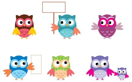 The Drawn Owls, Different Types Vector
