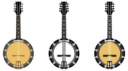 Set From A Musical Instrument  Banjo. Stock Vector - 15464338