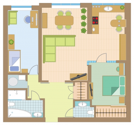 Apartment drawing Stock Vector - 15464342