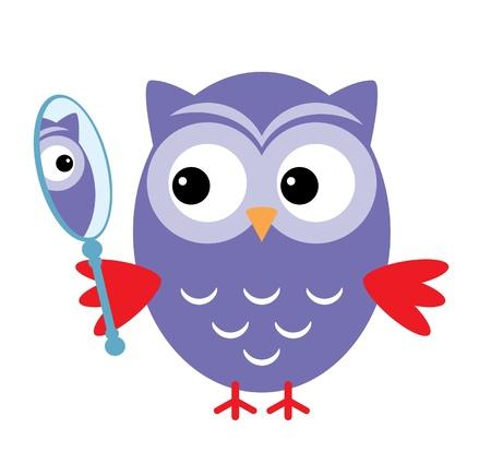 reflection mirror: Owl Mirror