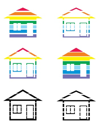 Picture of houses in different versions
