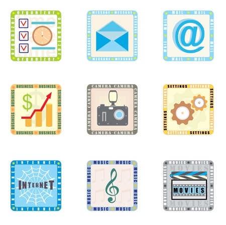 global settings: Icons for smart phone Illustration