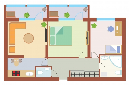 Apartment drawing Stock Vector - 17638807