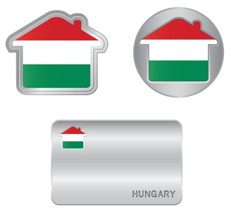 magyar: Home icon on the Hungarian flag