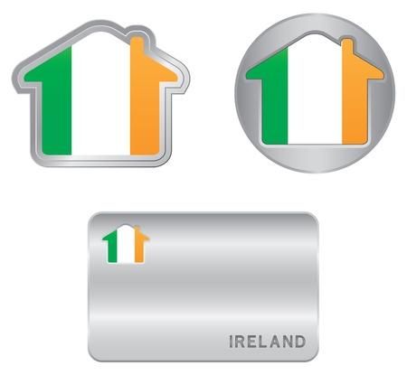 ireland flag: Home icon on the Ireland flag