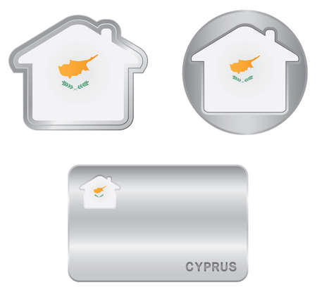 Home icon on the Cyprus flag Stock Vector - 18438106