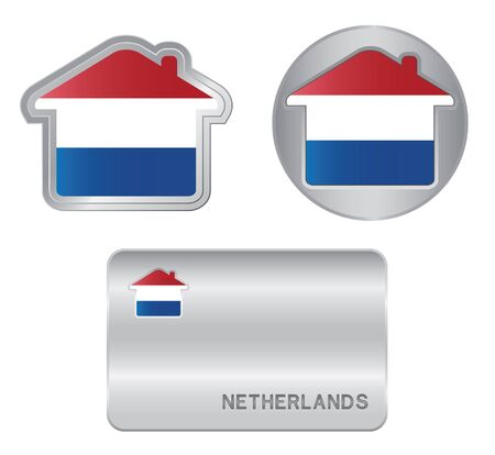 Home icon on the Netherlands flag