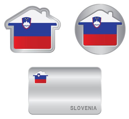 Home icon on the Slovenia flag Vector