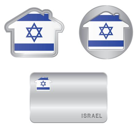 Home icon on the Israel flag Vector