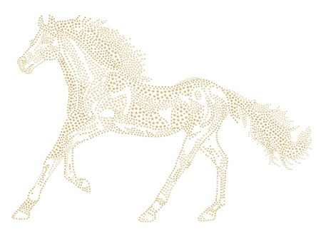 Horse of the stars. 2014 Chinese Lunar New Year of the Horse Zodiac.  Vector