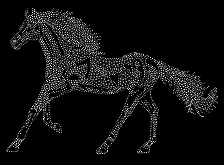 Horse of the stars. 2014 Chinese Lunar New Year of the Horse Zodiac. Stock Vector - 19530441