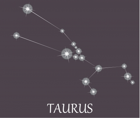 zodiacal sign: Signo zodiacal de Tauro. Vectores