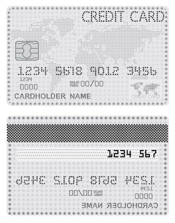 Credit Card of the stars in black and white   illustration Vector