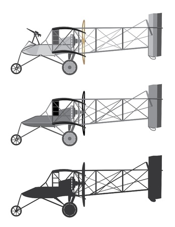warlike: Model airplane retro biplane  Vector illustration  Illustration