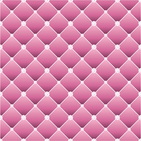 button tufted: Abstract upholstery on a pink background. Vector Illustration