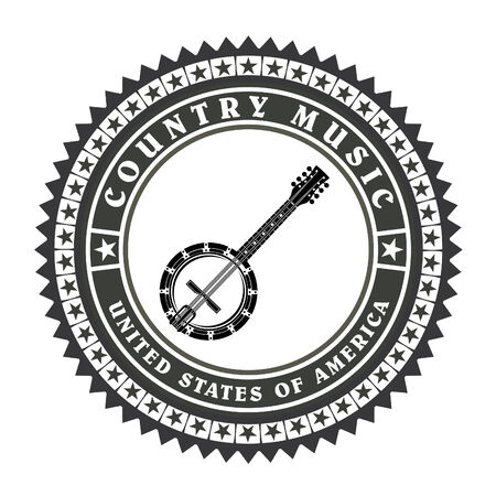 country music: Vintage-Label Country-Musik-Vektor