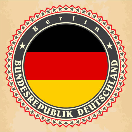 Vintage label cards of Germany flag Vector