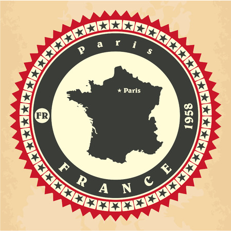 frenchman: Vintage label-sticker cards of France