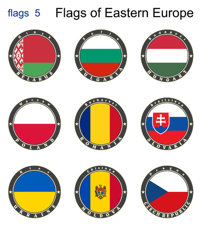 Flags of Eastern Europe. Flags 5. Vector. Vector
