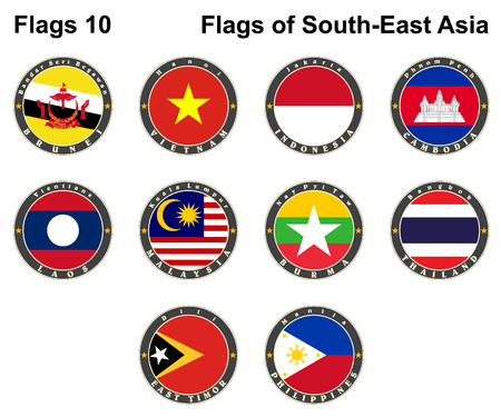 southeast: Flags of South-East Asia.