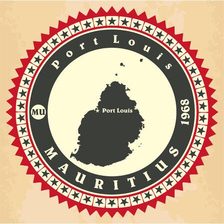 mauritius: Vintage label-sticker cards of Mauritius.