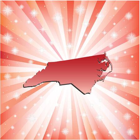 Red North Carolina. Vector illustration Vector