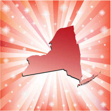 albany: Red New York. Vector illustration