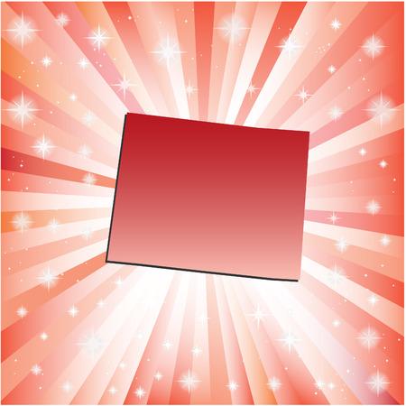 colorado: Red Colorado. Vector illustration Illustration