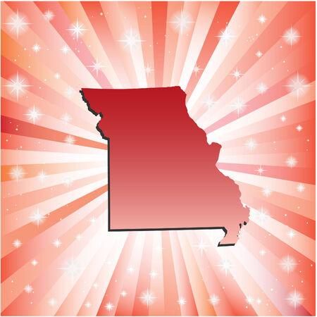 jefferson: Red Missouri. Vector illustration