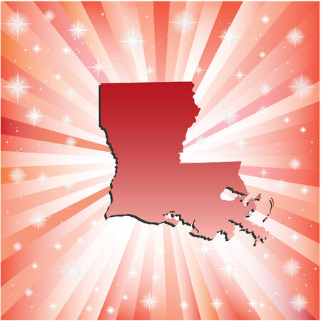 baton rouge: Red Louisiana. Vector illustration
