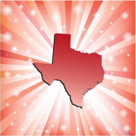 Red Texas. Vector illustration Vector