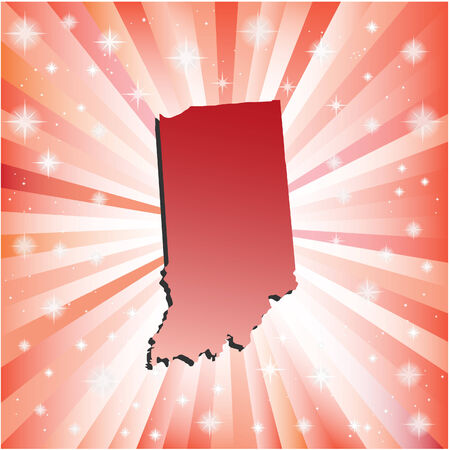 indiana: Red Indiana. Vector illustration