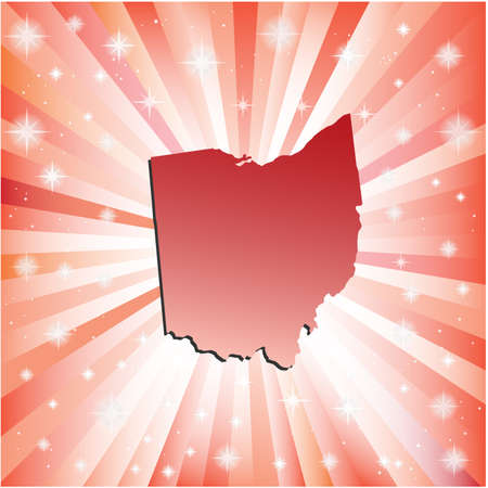 Red Ohio. Vector illustration Vector