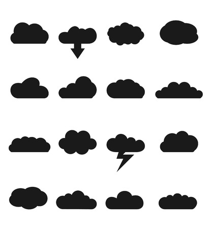simplus: Cloud icons for cloud computing for web and app Illustration