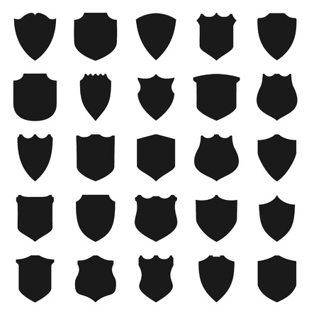 Black Shields.  Vector