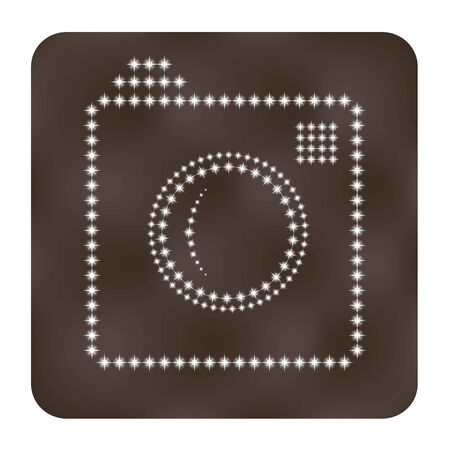 Photo or camera icon as stars.  Vector illustration Vector