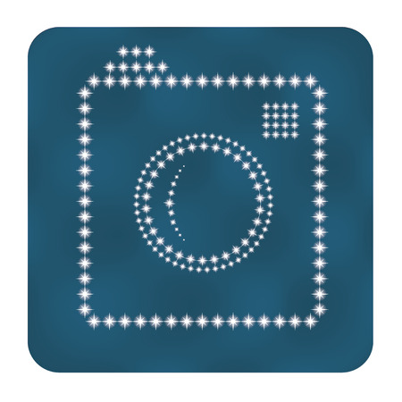 Hipster photo or camera icon as stars.  Vector illustration Vector