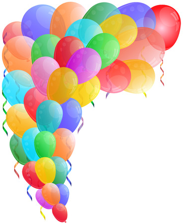 Color background with glossy balloon. Vector