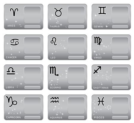 Zodiac sign. Vector illustration Vector