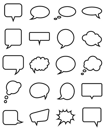 chatter: Speech bubble collection. Vector illustration