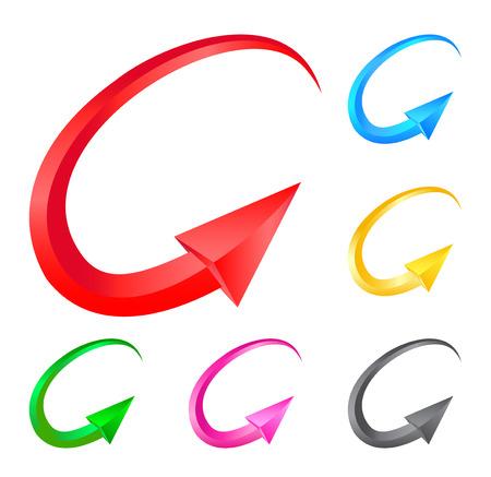 range of motion: Colorful arrows. Illustration for design on white background.Vector illustration Illustration