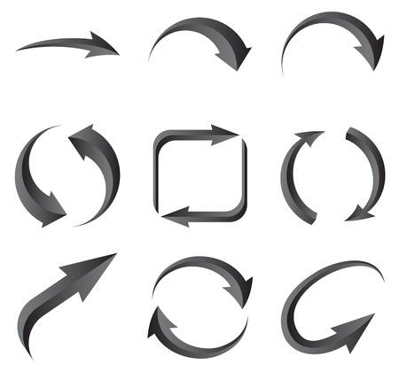 range of motion: Set of arrows. Illustration for design on white background.Vector illustration