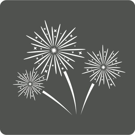 pyrotechnic: Fireworks sign icon. Explosive pyrotechnic show symbol. Modern UI website navigation.  Vector illustration