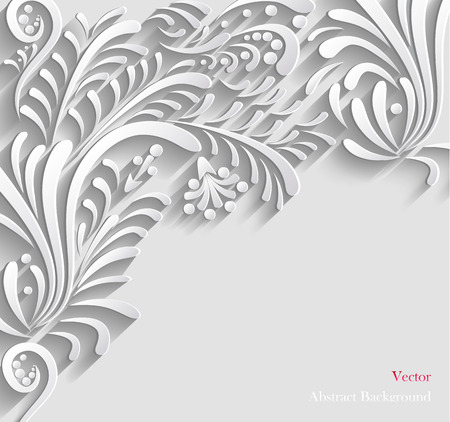 3d background: Abstract Floral 3d Background,  Vector illustration