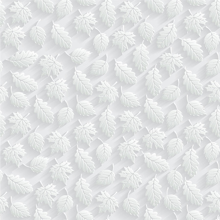 Vector Leaves 3d Seamless Pattern Background Wallpapers And