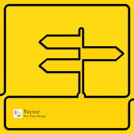 choose a path: The concept of a decision making  movement in an unknown direction.
