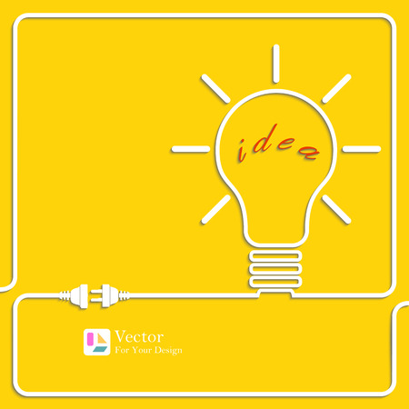 edison: Bulb light idea. Concept of big ideas inspiration innovation, invention, effective thinking. Contour vector illustration Illustration