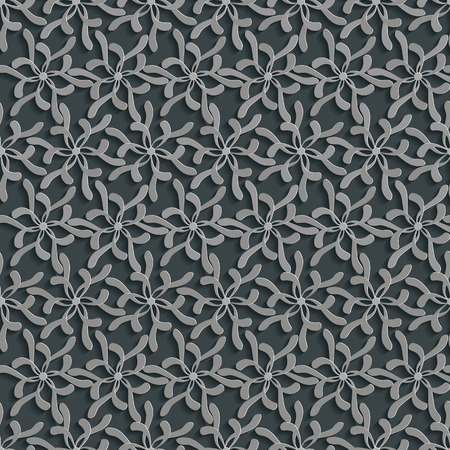 Floral 3d Seamless Pattern Background. Vector Decoration For Wallpaper or Invitation Card Vector
