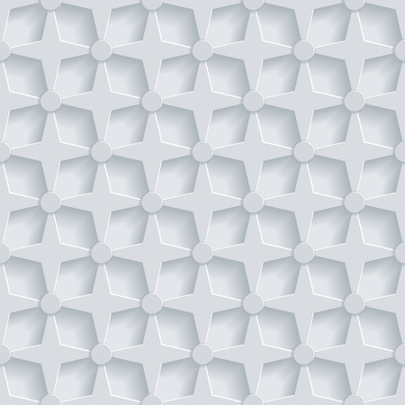 Geometric 3d Seamless Pattern Background. Vector illustration Vector