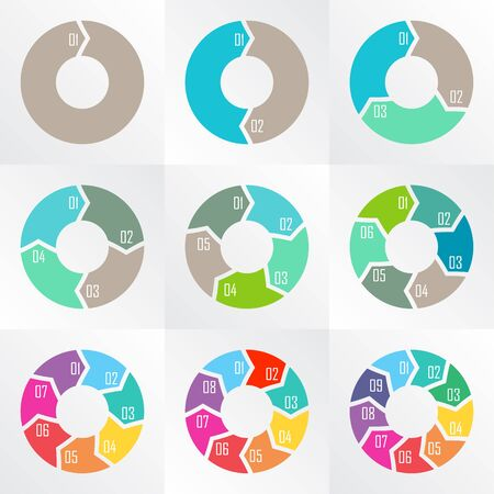 arrows circle: Vector circle arrows for infographic. Template for diagram, graph, presentation and chart.
